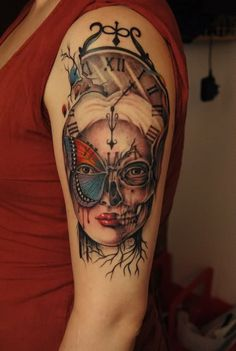 Skull Tattoos 8 - 80 Frightening and Meaningful Skull Tattoos