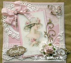 Voorbeeldkaart - ...Groetjes ...voor Rosina - Categorie: Scrapkaarten - Hobbyjournaal uw hobby website
