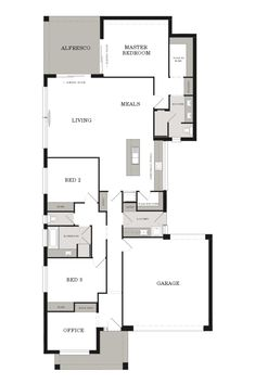 This superb family home has an air of elegance, with a tasteful attention to detail. This design combines style and practicality to create the perfect family home. #weeksbuildinggroup #floorplan #newhome #homedesign