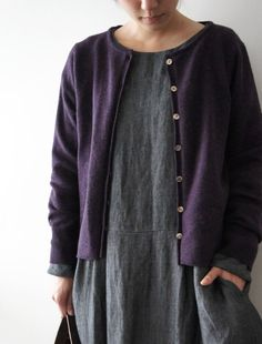 dress + cardigan + perfect colors