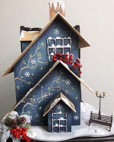 20 casitas de navidad Hecho a Mano Winter Christmas, Christmas Time, Merry Christmas, Xmas, Christmas Decorations, Christmas Ornaments, Holiday Decor, Pintura Country, Little Houses