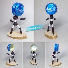 #병뚜껑공예 #병뚜껑아트 #BottleCapArt #뚜껑맨 #瓶盖艺术 #瓶盖人 #ビンの栓芸術 #로보트 #태권V #Robot #TaegwonV