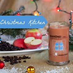 Sounds wonderful!  Diamond Candles contain a hidden ring in every candle valued 10-5,000 dollars! This Christmas Kitchen soy candle is an enchanting blend of apple raisin cookies served with spiced tea! Scent notes of apple, raisin, peach, clove, and tea leaves will fill your home with the goodness that comes from your kitchen during the Christmas season. You'll LOVE the HIDDEN RING inside, too! Great gift idea for the holidays and wonderful decoration for the home! PIN NOW and click 2 shop.