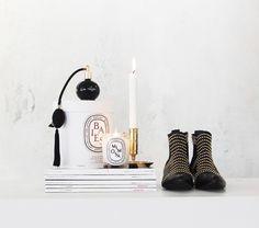 #ANINEBING Studded boots #diptyque #skultuna