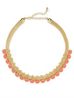 Coral Mesh Chain Collar from @BaubleBar #springfashion