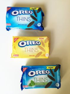 If you love regular Oreos, you'll love these. They're a crunchy, less-filling-heavy version of the original, and they come in three flavors: original, golden, and mint.