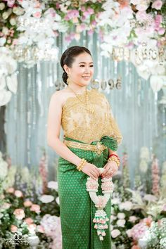 Cambodian People, Thai Dress, Khmer Wedding, Traditional Wedding, Culture, Costumes, Formal Dresses, Brides, Model