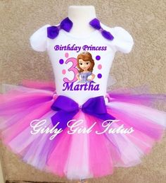 Princess Sofia the First Birthday Tutu Dress Outfit Party Set in Clothing, Shoes & Accessories, Baby & Toddler Clothing, Girls' Clothing (Newborn-5T)   eBay