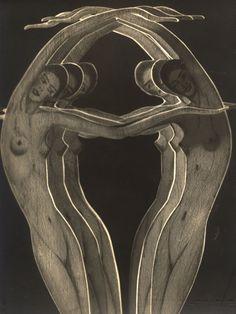 """djinn-gallery: """"Frantisek Drtikol - Female Nude Studies in Paper Cut-Out (Three Layers), 1930's """""""