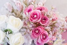 """love the lil purplish flowers and the """"tentacles"""" in the rose like flowers"""