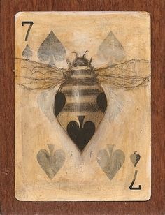Seven Bee by SethFitts.deviantart.com cool Bee playing card