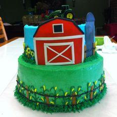 Evan's John Deere cake!