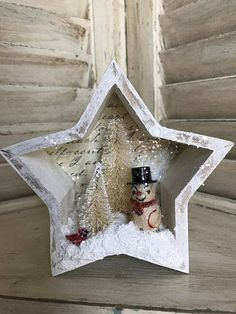 Little wooden Star Mixed Media accent