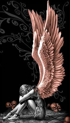 Gothic angel tattoo new Ideas Dark Angels, Angels And Demons, Fallen Angel Art, Gothic Angel, Gothic Art, Gothic Home, Angel Wings Wall Art, Dark Angel Wings, Angel Wings Painting