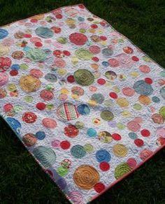 overlapping circles scrap quilt tutorial