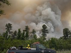 Controlled burn goes out of control in the Croatan National Forest.