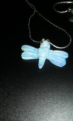 Moonstone Dragonfly Necklace