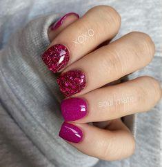Short Nail Designs, Colorful Nail Designs, Nail Tips, Nail Ideas, Hair And Nails, My Nails, Simple Acrylic Nails, Nails First, Sparkles Glitter
