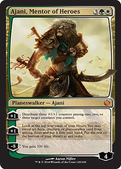 Ajani, Mentor of Heroes | Journey into Nyx | Magic: The Gathering at Planeswalker's Library