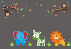 Hello and Welcome!!! We carry over 800 unique nursery wall decals for your child's nursery room.  We have many different themes & color combinations to match any room.  If you were looking for specific themes, we specialize in Safari, Jungle, Forest, Farm and Ocean designs.  All of these decals are completely removable and reusable and are also made from a very HIGH QUALITY material.  https://www.etsy.com/listing/290591827/nursery-wall-decals-jungle-animal-themed?ref=shop_home_active_19…