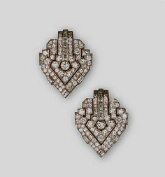 Cartier London Art Deco Diamond Clips 1929 image Clive Kandel Cartier Collection |