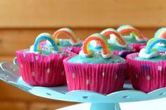 Mädchenkram: Gebacken: Regenbogenmuffins