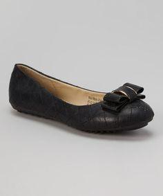 Look at this #zulilyfind! Black Quilt Flat #zulilyfinds 14.99