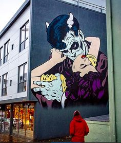 by D*Face in Reykjavik, Iceland, 10/15 (LP)
