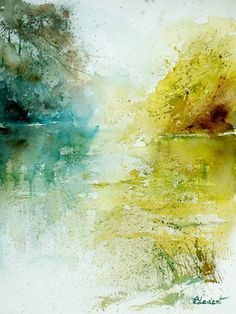 Pol Ledent | strokes inspiration watercolor painting by pol ledent i love this