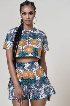 African Print Yerma Crop Top - Women's style: Patterns of sustainability African Fashion Ankara, African Inspired Fashion, Latest African Fashion Dresses, African Print Fashion, Africa Fashion, Tribal Fashion, Short African Dresses, African Print Dresses, Look Fashion