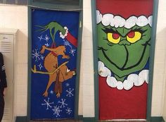 Christmas Door Decorating Contest Ideas School Classroom Decorations For Elegant How The Stole Holiday – Online House New Interior Grinch Christmas Decorations, Whoville Christmas, School Door Decorations, Office Christmas Decorations, Christmas Themes, Christmas Christmas, Christmas Door Decorating Contest, Moldes Halloween, Christmas Classroom Door
