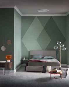 Color Schemes: 5 Apartment Bedroom Decor for Couples - Deciding a color scheme is for an apartment bedroom décor for couples is important for couple-comfort. Take a look at these five color schemes ideas. Accent Wall Designs, Bedroom Wall Designs, Accent Wall Bedroom, Accent Decor, Accent Walls, Wall Paint Colour Combination, Bedroom Decor For Couples, Apartment Bedroom Decor, Bedroom Décor