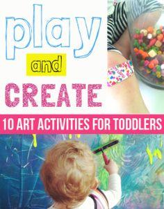 10 kreative leker for barn mellom 1 og 3 Art Activities For Toddlers, Sensory Activities, Infant Activities, Educational Activities, Learning Activities, Sensory Play, Preschool Art, Toddler Preschool, Toddler Crafts