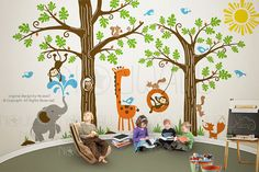woodland animal kids room vinyl - Google Search