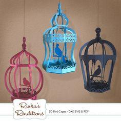 3D Bird Cages numérique couper fichier et par RivkasRenditions