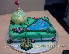Coolest Princess and the Frog Birthday Cake... This website is the Pinterest of birthday cake ideas
