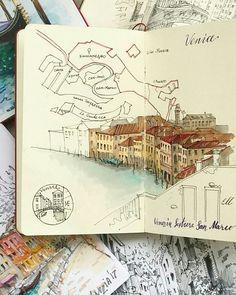 Voyage Sketchbook, Travel Sketchbook, Sketchbook Pages, Fashion Sketchbook, Art Journal Pages, Sketch Journal, Journal Layout, Art Journals, Sketchbook Inspiration