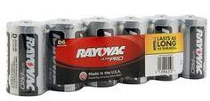 Ray-o-vac Alkaline Battery D 6pk