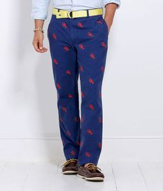 I seriously saw a man out at dinner last night wearing these!! They are blue w/ red lobsters all over them! He matched them with a long sleeved light blue checkered button down :/ he seemed single-wonder why.....