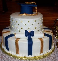 Graduation cake love this just prefect wish i could do this- Just in GARNET AND GOLD
