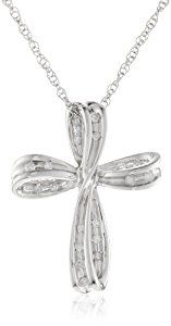 "Sterling Silver Cross Diamond Pendant Necklace (1/10 cttw, I-J Color, I2-I3 Clarity), 18""  http://electmejewellery.com/jewelry/religious-jewelry/sterling-silver-cross-diamond-pendant-necklace-110-cttw-ij-color-i2i3-clarity-18-com/"