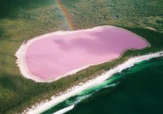 Le Lac Hillier, en Australie