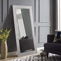 Shop for Naomi Home Mosaic Style Full Length Floor Mirror Silver online – Nanakoshopping - OneShots. Full Length Floor Mirror, Mirror Floor, Silver Floor Mirror, Body Mirror, Glam Bedroom, Master Bedroom, Living Room Mirrors, Wall Mirrors, Mirror Mosaic
