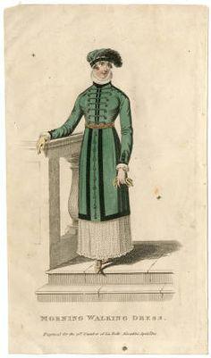 La Belle Assemblee, April 1812, Morning Walking Dress