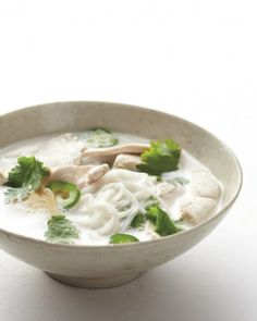 thai coconut lime chicken noodle soup. will try w/ shiritaki noodles - martha stewart