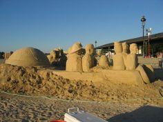 Sand Sculptures at Sunrise