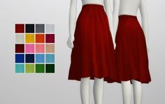 """Simple flare skirt at Rusty Nail ( The Sims 4 ) Download """