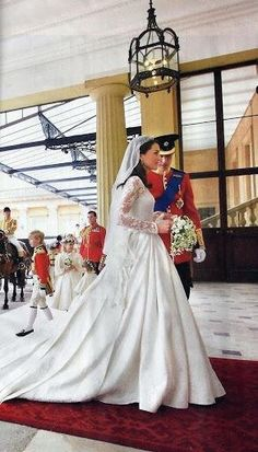 Prince William with his new Bride Catherine on their Wedding Day