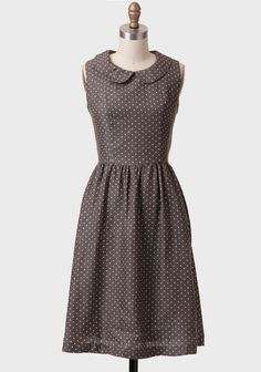 A Promise Kept Polka Dot Chambray Dress In Taupe at #Ruche @Ruche