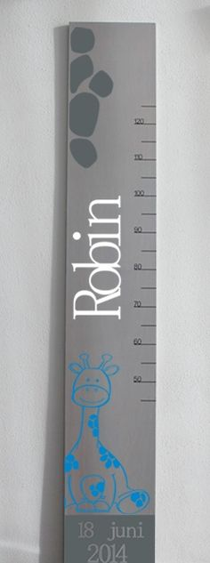 Groeimeter Robin Diy Wooden Projects, Wooden Diy, Wooden Signs, Baby Shower Gifts, Baby Gifts, Nursery Room Decor, Door Signs, Baby Accessories, Little Princess